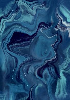 蓝色水波纹液态抽象图