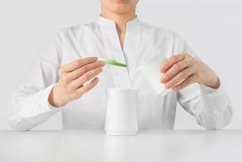白色竹制茶具