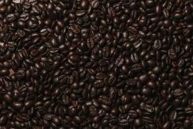 黑色咖啡豆