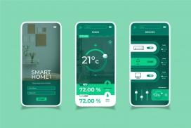 绿色智能家居应用APP界面设计