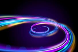 抽象旋转霓虹灯背景素材