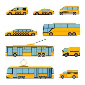 城市公交车玩具素材