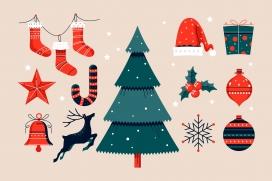卡通针织类圣诞饰品素材下载