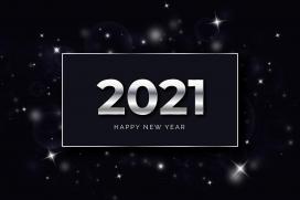 银色质感2021数字广告素材