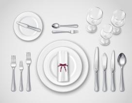 高级西餐餐具素材