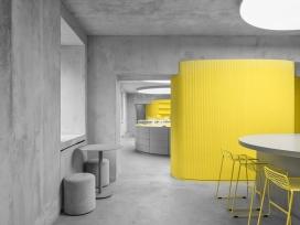 AVGVST-俄罗斯圣彼得堡水泥灰+黄颜色的室内设计