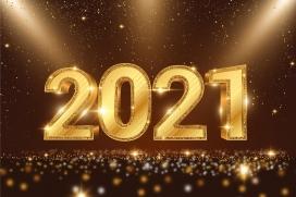 镶金的2021立体字素材下载