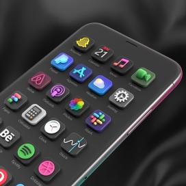 IOS14手机立体图标设计