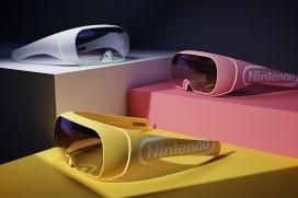 时尚的Nintendo交互式头戴式VR眼镜耳机