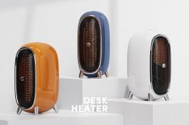 复古的台式取暖器