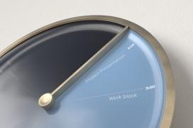 与您日历相结合,可以展示日常任务,从而提高WFH生产率的直观时钟