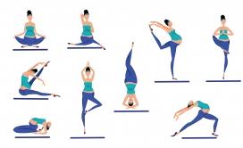 卡通孕妇瑜伽素材下载