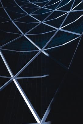 几何交叉建筑图