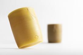 有机可回收可食用可生物降解的蜂蜡包装设计