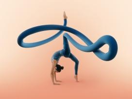 Yoga Poses-疯狂的瑜伽创意图