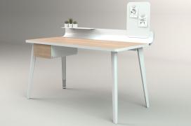 可整理杂乱工作空间保留温暖而简约美感的时尚家庭办公桌