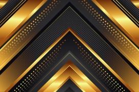 金色打孔倒三角几何素材下载