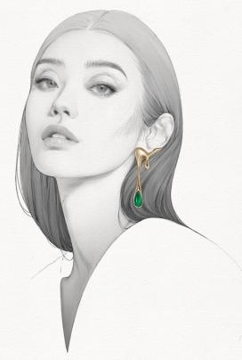 Bejeweled-最耀眼的珠宝人像插画