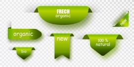 绿色卷边包角素材下载