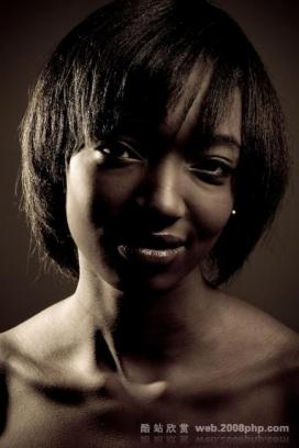 非洲黑人女性的微笑摄影